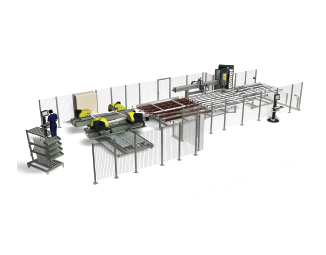 Emmegi Integra 4H Welding and Corner Cleaning Line